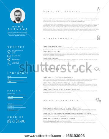 Resume one page two